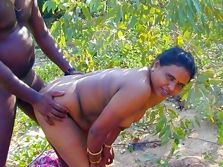 Fastening 2 Indian Desi Show one's age in Open Field Village Outdoor Sex In Forest Radhika Bhabhi