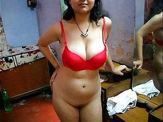 Bengali Indian Bhabhi Sexy Savita In Peppery Lingerie