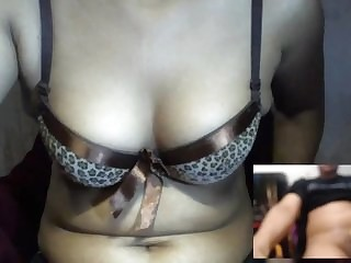 Indian girl shows missing on cam