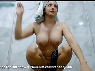 Big Titty Indian Aunty Not Getting Enough Dick Cums Hard in Shower
